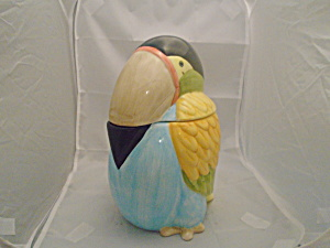 Toucan Ceramic Cookie Jar