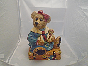 Boyds Bearware Collection Bailey Bear On Suitcase Cookie Jar