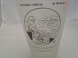 Family Circus Frosted Glasses 2005 20th Anniversary Glass