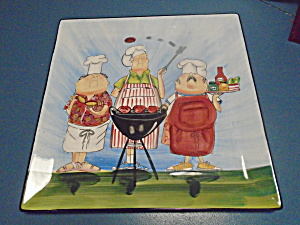 Cic Tracy Flickinger Master Of The Grill Waiters Square Platter/tray