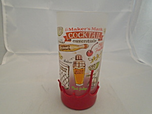 Maker's Mark Frosted Cocktail Essentials Tumbler(S) W/red Wax