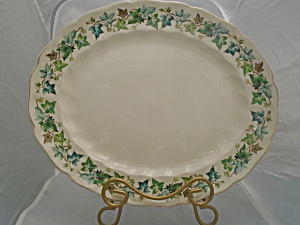Johnson Bros Old Chelsea Oval Platter Ivy Leaves