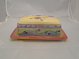 Sango Sweet Shoppe Covered Butter Dish