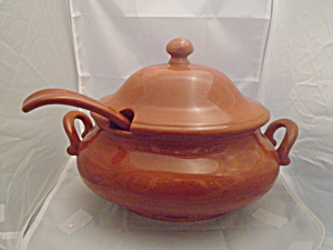 Pottery Barn Sausalito Terracotta Covered Soup Tureen W/ladle
