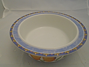 Dansk Fiance Fruits Cereal Bowls Blue Trim