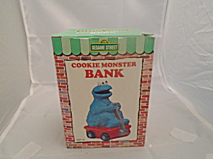 Sesame Street Cookie Monster Bank Nib 1986
