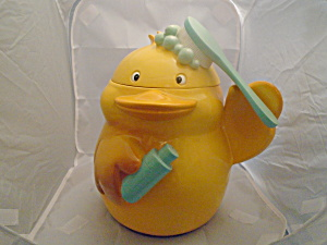 Circo Yellow Duck Waste Basket/cookie Jar/toy Holder For Bath