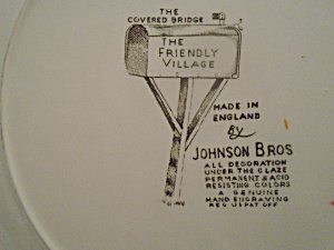 Johnson Bros Friendly Village Oval Platter