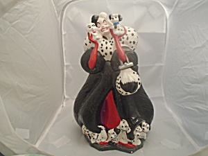 Treasure Craft Dalmatians Disney Cruella Cookie Jar