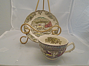 Johnson Bros Friendly Village Cups And Saucers