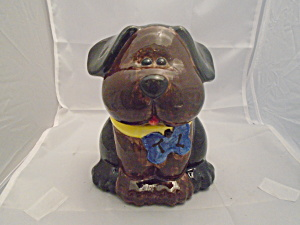 A Cute Little Puppy Cookie Jar Or Treat Jar Ceramic