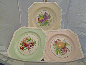 Johnson Bros. Old English Square Salad Plates Set 3 Fruit Center