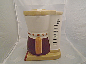 Ceramic Coffee Maker 9 Cup Cookie Jar Cute