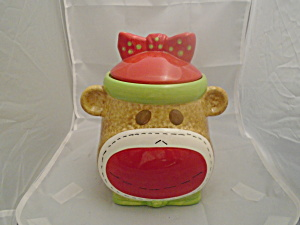 Real Home Sock Monkey Cookie Jar Very Cute