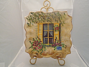 Tabletops Rue De Paris Salad Plate Style 2 Yellow Shutters