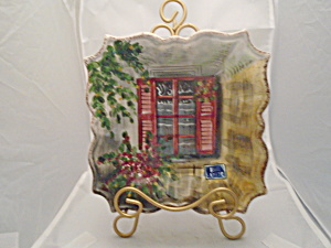 Tabletops Rue De Paris Salad Plate Style 1 Red Shutters