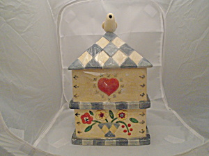Cic Birdhouse Ceramic Cookie Jar