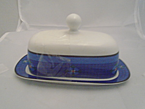 Dansk Nine Patch Covered Butter Dish