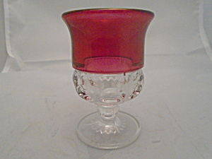 Tiffin/franciscan King's Crown Cranberry 3.75 In. Cognac Glasses