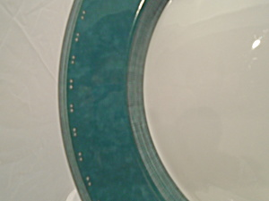 Dansk Gridworks Green Rimmed Dinner Plates Made In Portugal