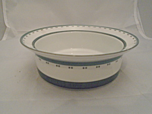 Dansk Gridworks Green Rimmed Cereal Bowl Made In Portugal