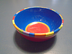 Dansk Hand Painted Colorful Cereal Bowls Bright/pretty