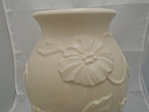 Lenox American By Design Embossed Floral Vase Mint