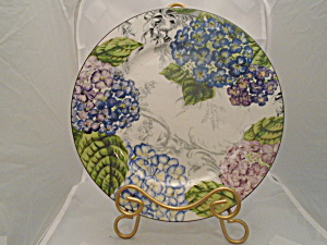 American Atelier Hydrangea Toile Dinner Plates #5380