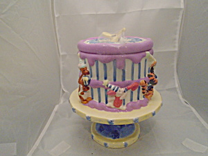 Winnie, Eyore, Tigger And The Gang Cake Pedestal Cookie Jar