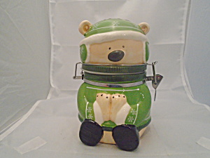 Conagra Hinged Small Jar/cookie Jar Winter Bear