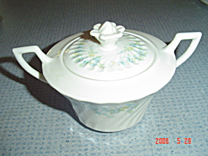 Syracuse Tiny Blue Flowers Sugar Bowl Sy55