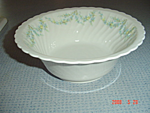 Syracuse Tiny Blue Flowers Serving Bowl Sy55