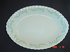 Syracuse Tiny Blue Flowers Sm Platter Sy55