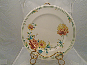 Noritake Versatone Asian Bouquet Dinner Plates Vintage