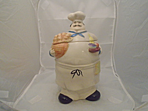 Pier 1 Bon Vivant Chef Ceramic Cookie Jar