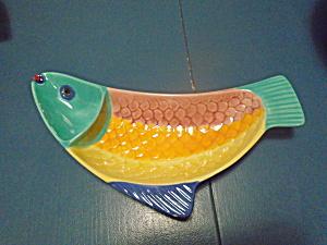 METLOX California Pottery Pescado Fish Chip Dip Bowl (Image1)