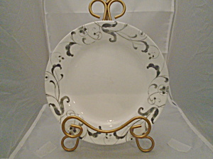 Corelle Gray and White Swirl Lunch Plates (Image1)