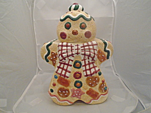 Jay Imports Gingerbread Man Ceramic Cookie Jar