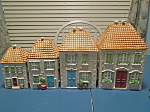 Certified International Susan Winget Set Of 4 House Canisters