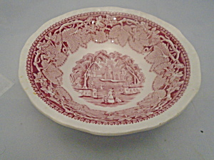Mason's Vista Pink/red Cereal Bowls