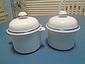 Dansk Bistro Covered Creamer And Covered Sugar Bowl. Portugal