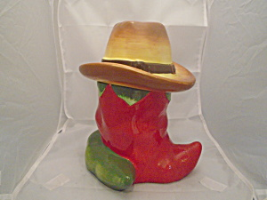 Red Chili Cookie Jar W/hat
