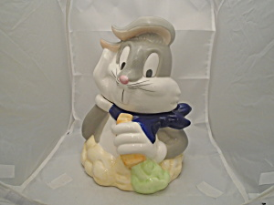 Bugs Bunny Looney Toons Ceramic Cookie Jar Mint