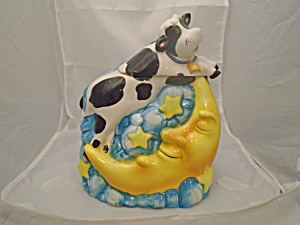 Cow Jumped Over The Moon Ceramic Cookie Jar
