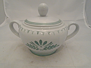 Arabia Green Thistle Finland Covered Sugar Bowl