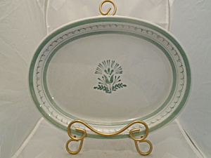 Arabia Green Thistle Finland Oval Platter