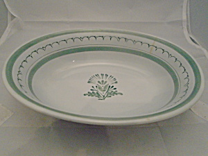 Arabia Green Thistle Finland Oval Serving Bow