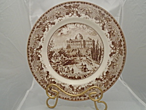 Johnson Bros. Historic America Brown Dinner Plates New