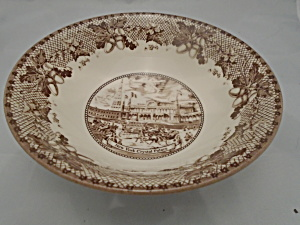 Johnson Bros. Historic America Brown Cereal Bowls New
