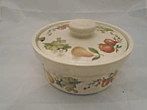 Vintage Wedgwood Quince Covered Sugar Bowl Mint 1969-1986